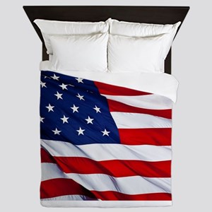 United States Flag in All Her Glory Queen Duvet