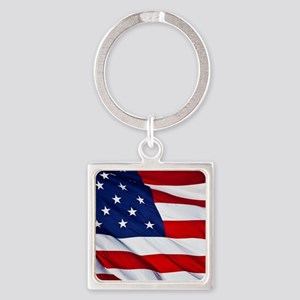 United States Flag in All Her Glory Keychains