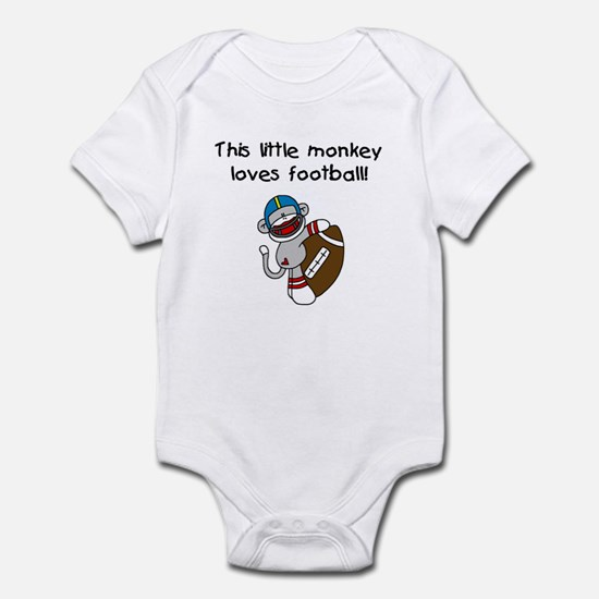 Little Monkey Loves Football Infant Bodysuit