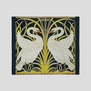 Swan, Rush and Iris by Walter Crane Throw Blanket