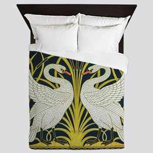 Swan, Rush and Iris by Walter Crane Queen Duvet