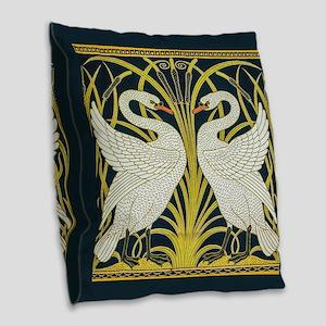 Swan, Rush and Iris by Walter Burlap Throw Pillow