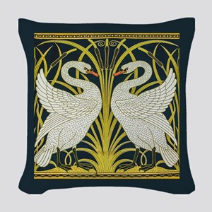 Swan, Rush and Iris by Walter Woven Throw Pillow