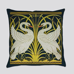 Swan, Rush and Iris by Walter Cran Everyday Pillow