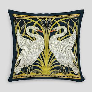 Swan, Rush and Iris by Walter Cran Everyday Pillow