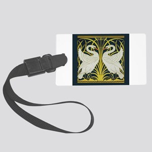 Swan, Rush and Iris by Walter Cr Large Luggage Tag