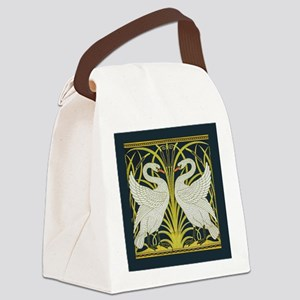Swan, Rush and Iris by Walter Cra Canvas Lunch Bag