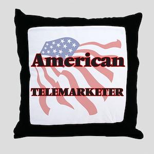 American Telemarketer Throw Pillow