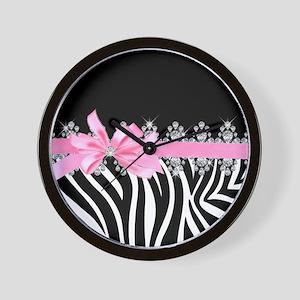 Zebra (pink) Wall Clock