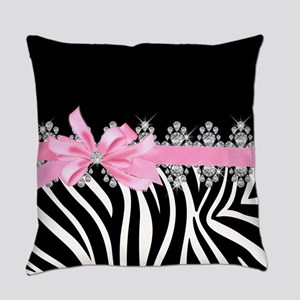 Zebra (pink) Everyday Pillow