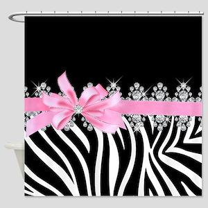 Zebra (pink) Shower Curtain
