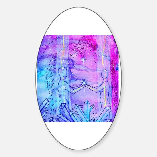 Funny Twin flames Sticker (Oval)