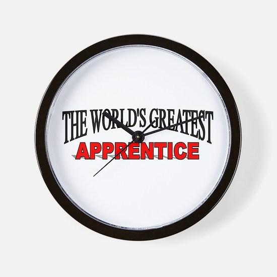 """The World's Greatest Apprentice"" Wall Clock"