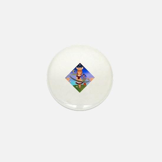 Cute Femme Mini Button