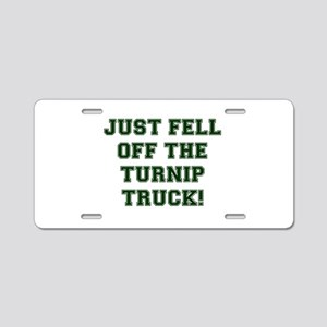 TURNIP TRUCK! Aluminum License Plate