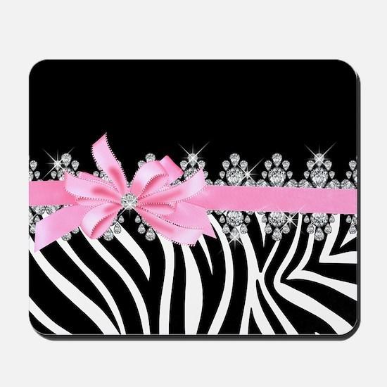Zebra (pink) Mousepad