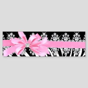 Zebra (pink) Sticker (Bumper)