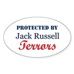 Protected by JRTerrors! Oval Sticker