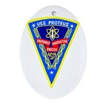 USS Proteus (AS 19) Oval Ornament