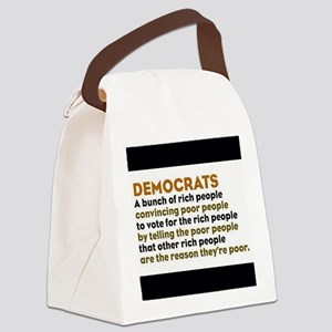 Definition of Democrat Canvas Lunch Bag