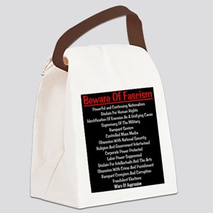 Beware of Fascism Canvas Lunch Bag