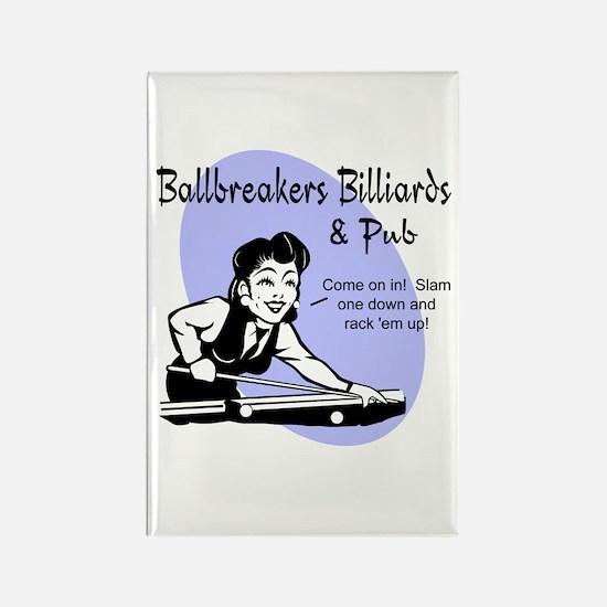 Ballbreakers Billiards Rectangle Magnet