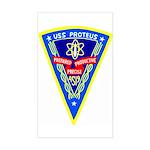USS Proteus (AS 19) Rectangle Sticker