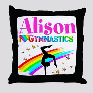 GYMNAST CHAMPION Throw Pillow