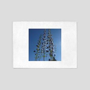 Tall Blue on Blue Sky 5'x7'Area Rug