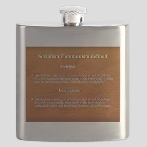 Socialism, Communism Defined Flask