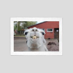 Funny Alpaca Llama 5'x7'Area Rug