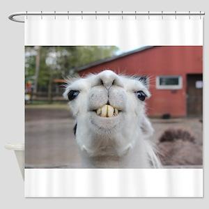Funny Alpaca Llama Shower Curtain