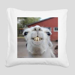 Funny Alpaca Llama Square Canvas Pillow