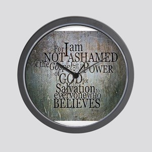 ROMANS 1:16 Not Ashamed Wall Clock