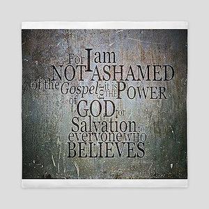 ROMANS 1:16 Not Ashamed Queen Duvet