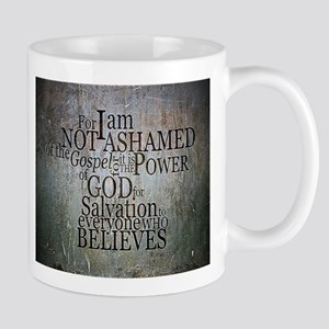 ROMANS 1:16 Not Ashamed Mugs
