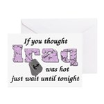 Navy Iraq was hot Greeting Cards (Pk of 10)