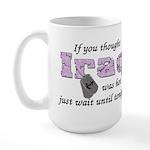 Navy Iraq was hot Large Mug