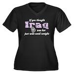 Navy Iraq was hot Women's Plus Size V-Neck Dark T