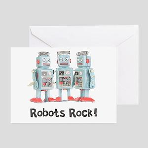 Robots Rock! Greeting Card