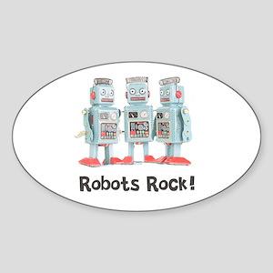 Robots Rock! Oval Sticker