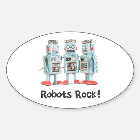 Robots Rock! Oval Decal