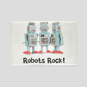 Robots Rock! Rectangle Magnet