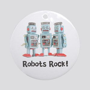 Robots Rock! Ornament (Round)