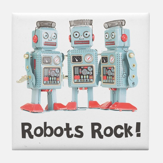 Robots Rock! Tile Coaster