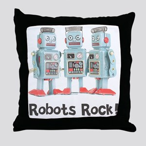 Robots Rock! Throw Pillow