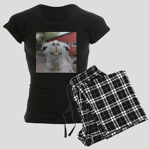 Funny Alpaca Llama Women's Dark Pajamas
