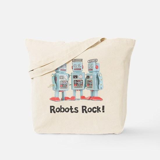 Robots Rock! Tote Bag