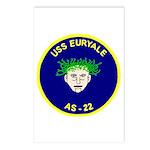 USS Euryale (AS 22) Postcards (Package of 8)