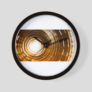 Binary Data Abstract Wall Clock